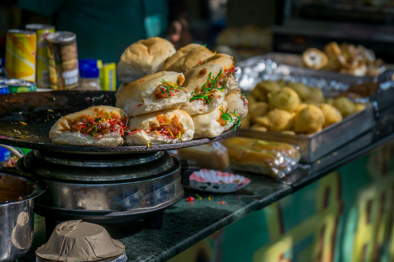 Indian street food made with Portuguese bread
