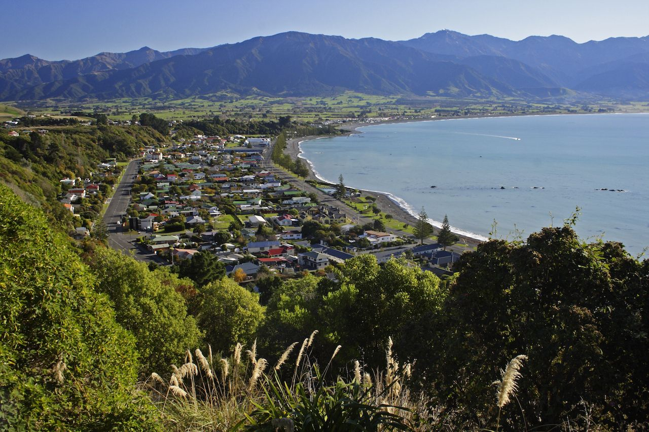 Kaikoura on the South Island of New Zealand