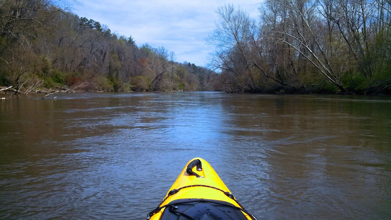 Kayak on French Broad River, Asheville