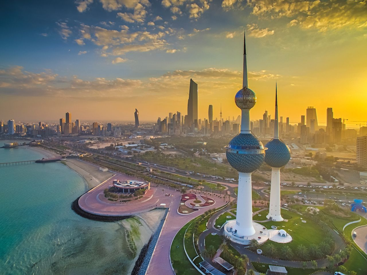 Kuwait City sunset