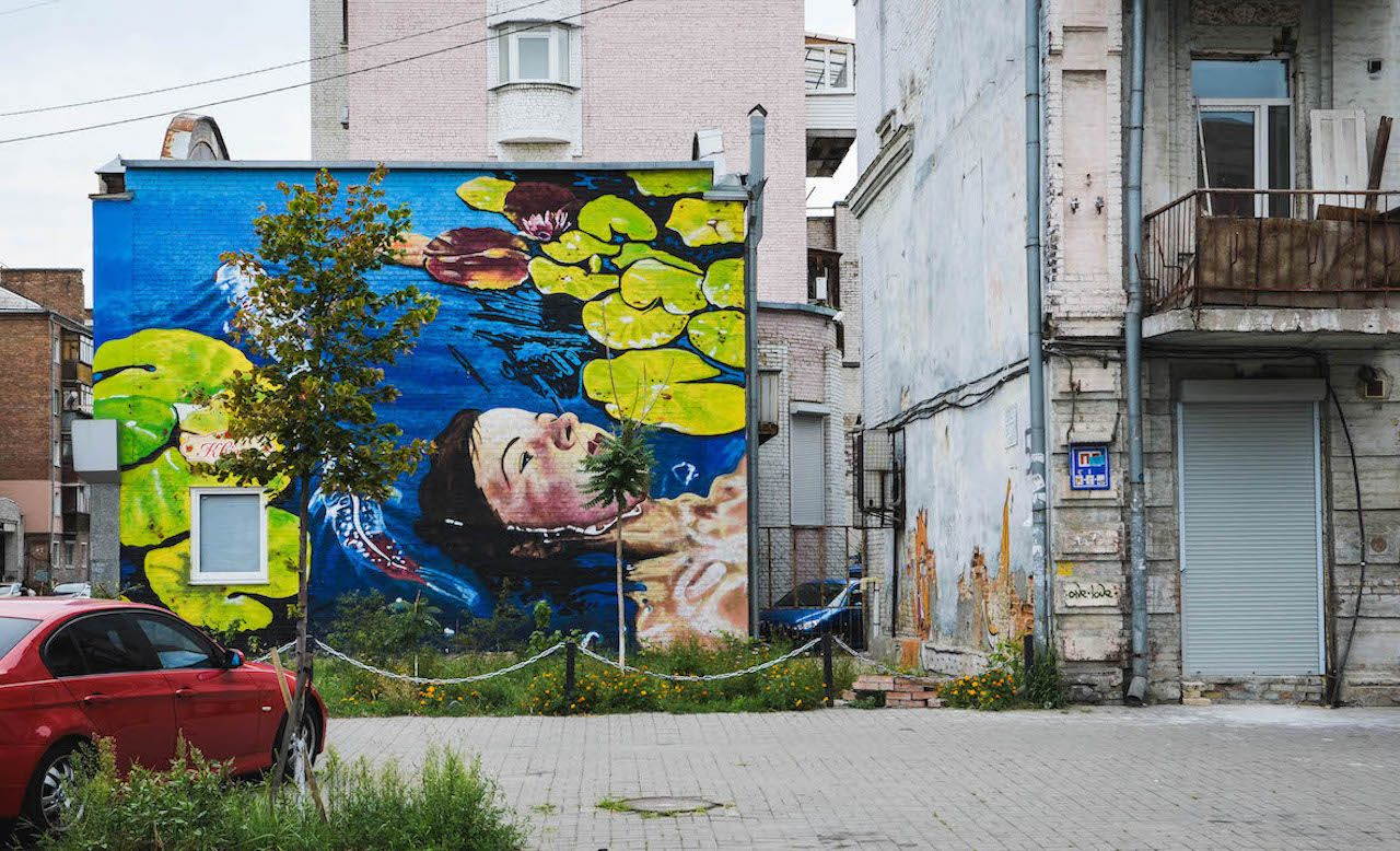 Lake Mural in Kiev by Anastasia Belous