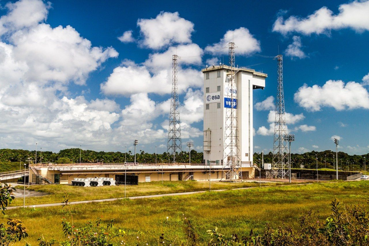 Launch Pad of Vega Rockets at Guiana Space Center