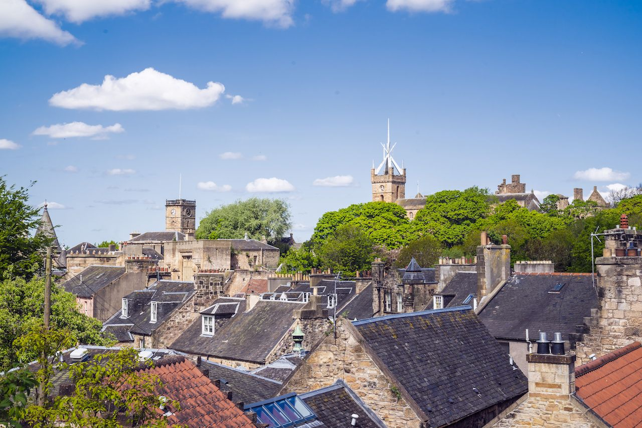 Linlithgow skyline in West Lothian, Scotland