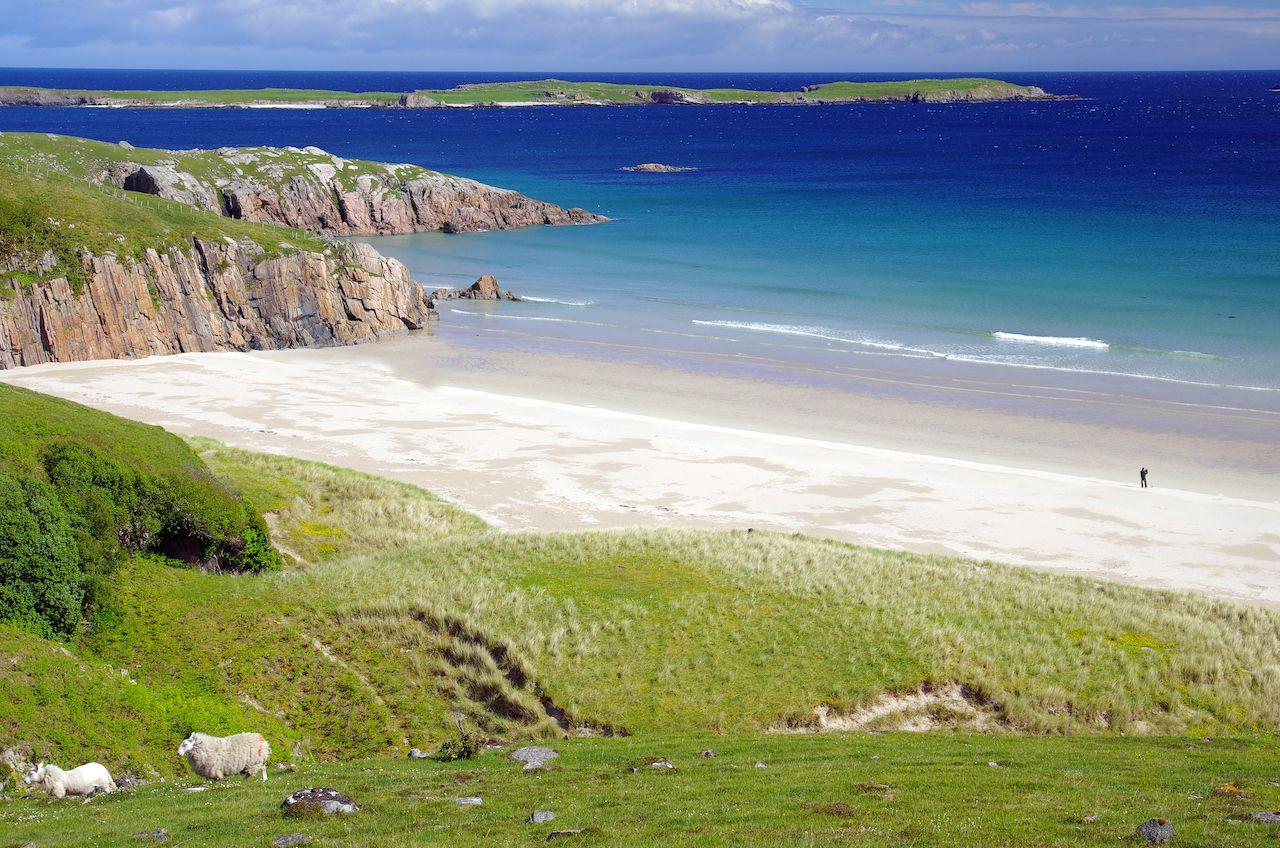 Lonely beach near Durness, Scotland