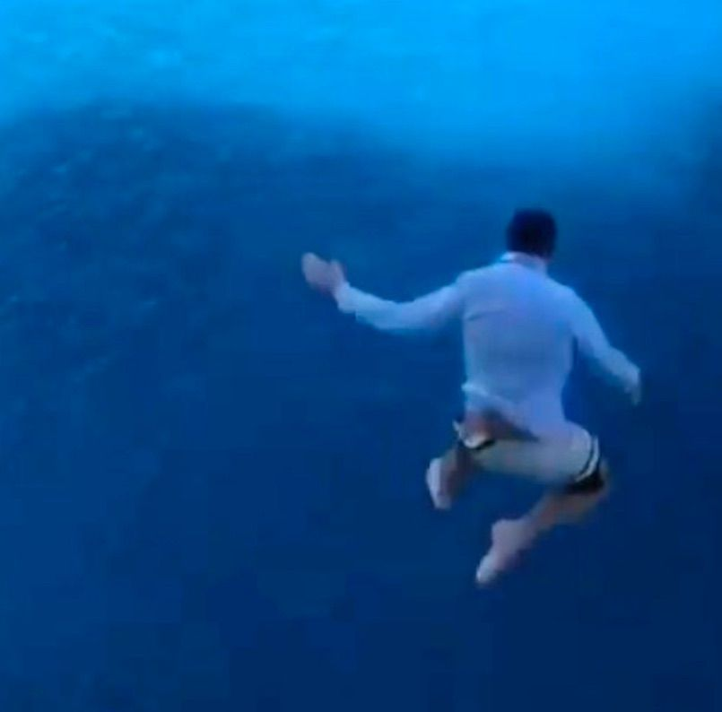 Man jumps off cruise ship, banned