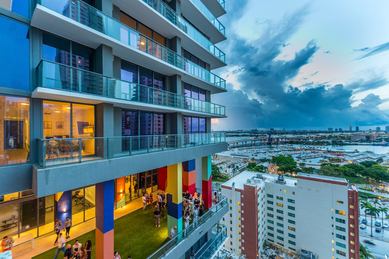 Miami shared space hotel with view