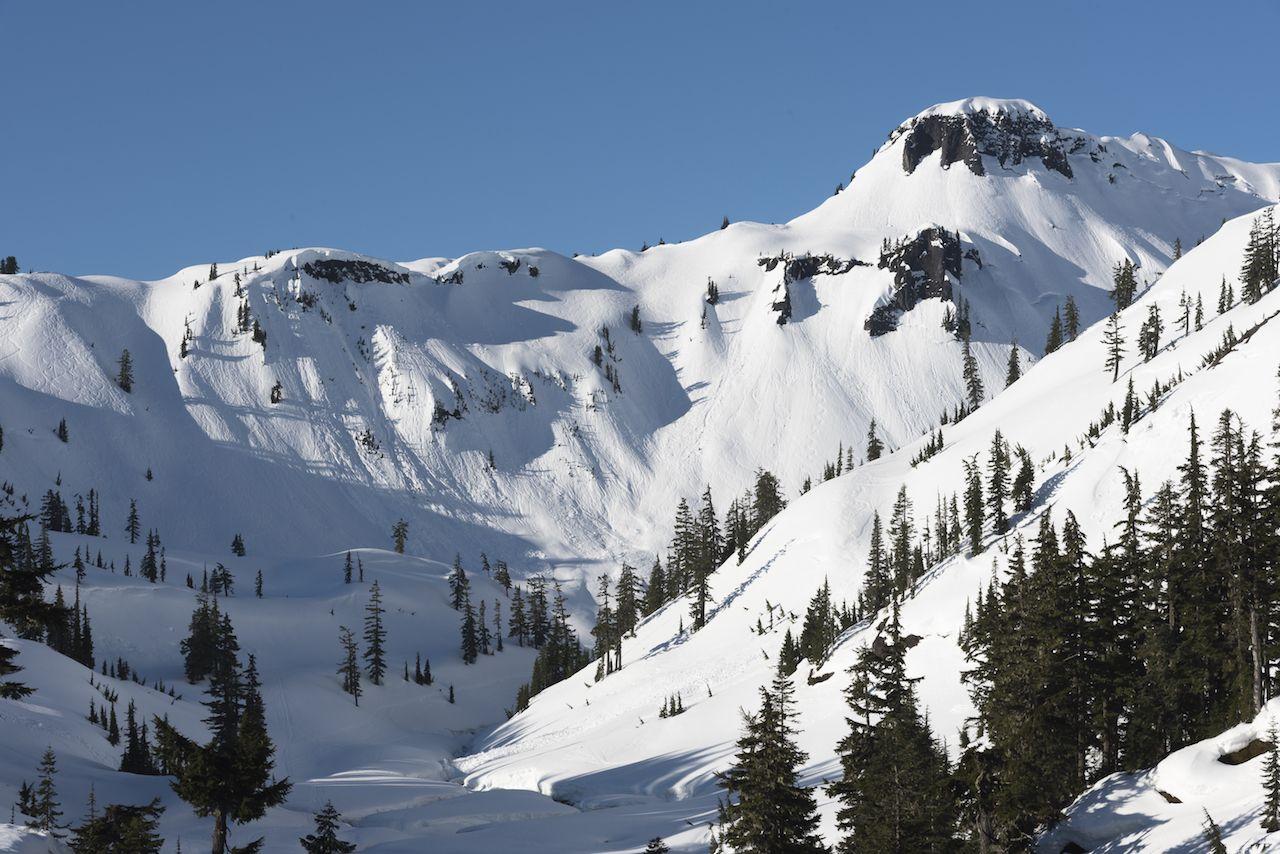 Mt Baker Ski Area snowy peaks