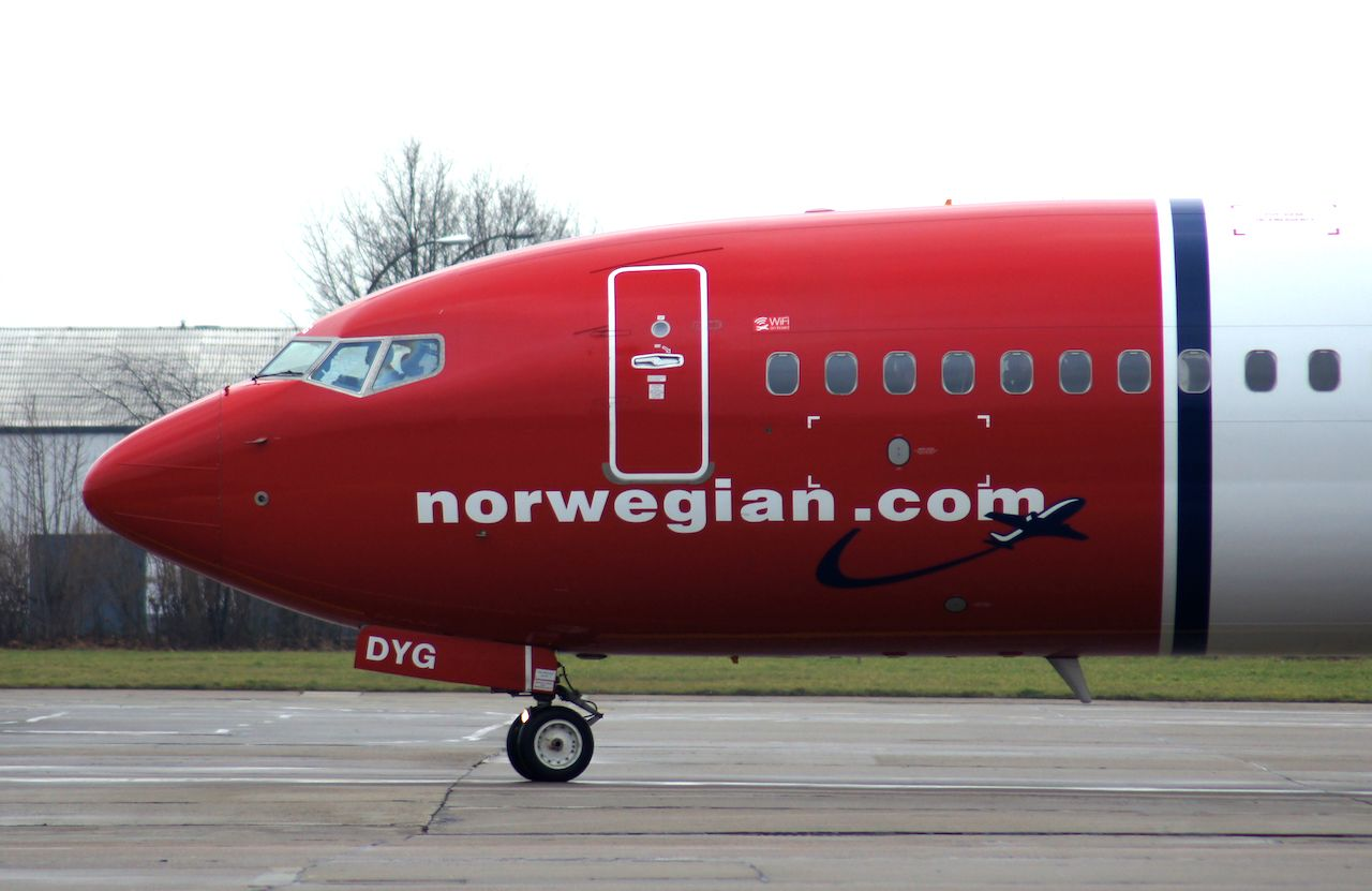 Norwegian Air plane in Iran
