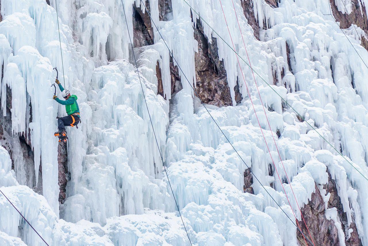 Ice climbing in Ouray, Colorado