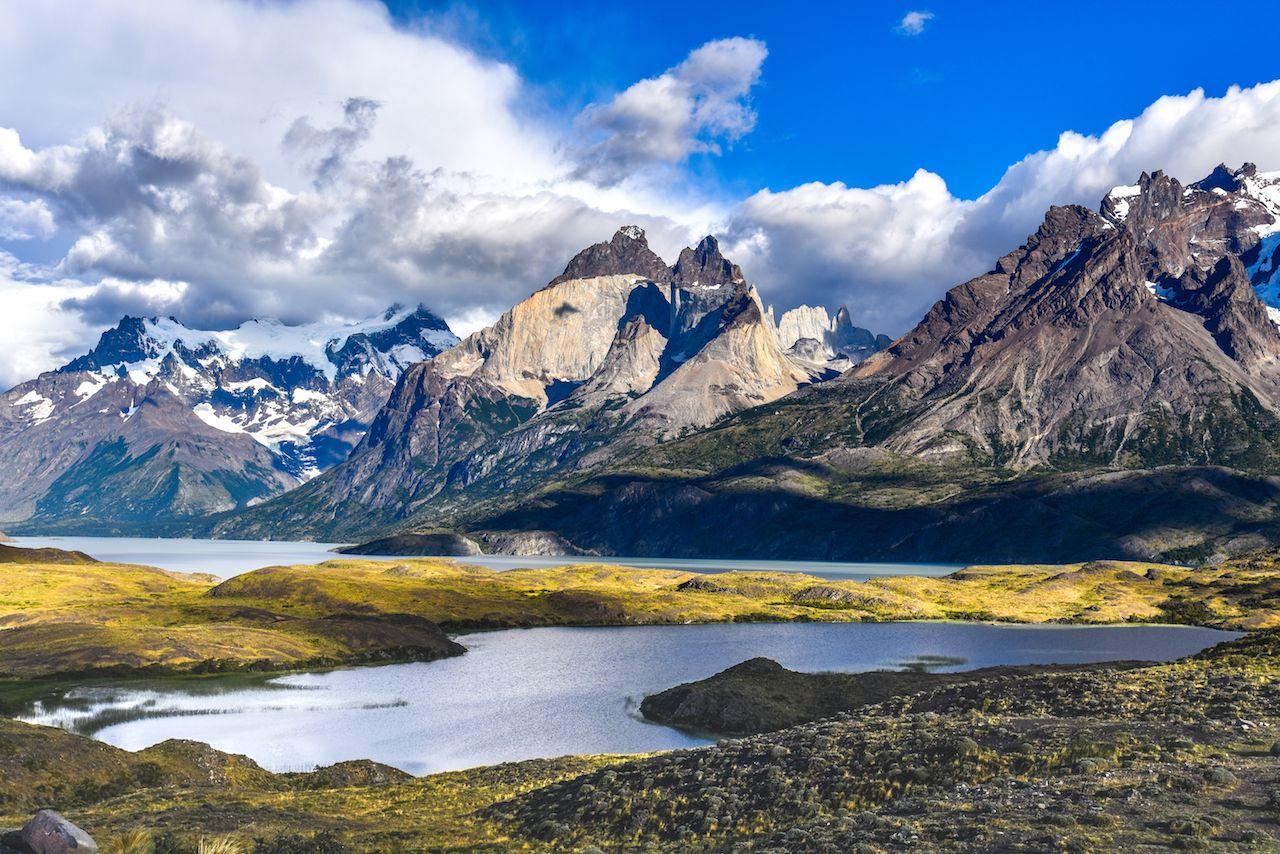 W Trek in Torres del Paine views