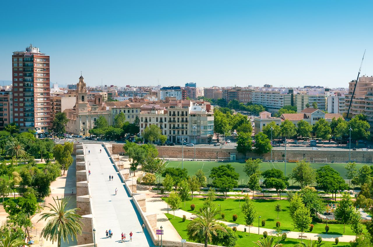 Park Turia in Valencia, Spain