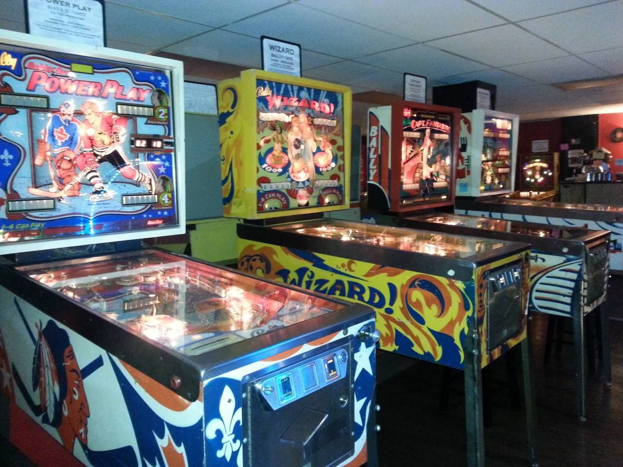 Pinball machines at the Pinball Museum in Asheville, North Carolina