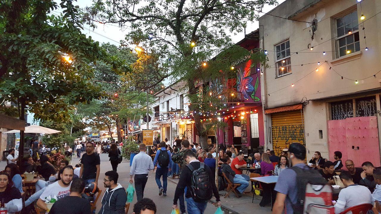 Pinheiros neighborhood in Sao Paulo
