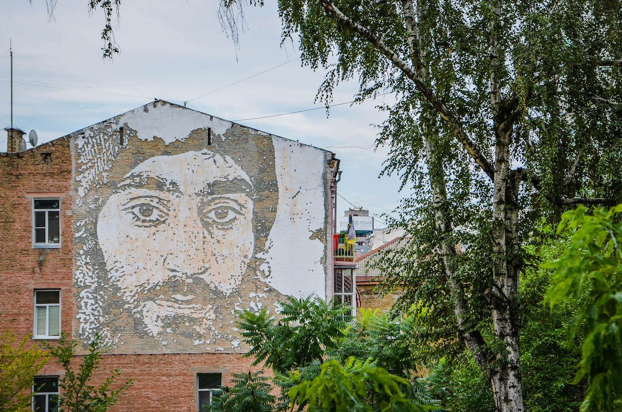 Portrait of Serhiy Nigoyan by Vhils