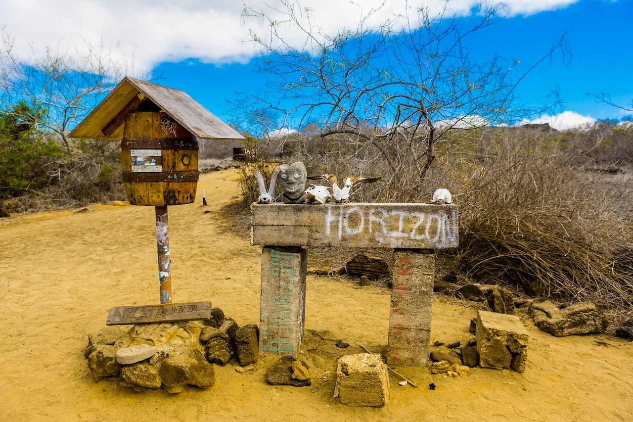 Postcard office in the Galapagos