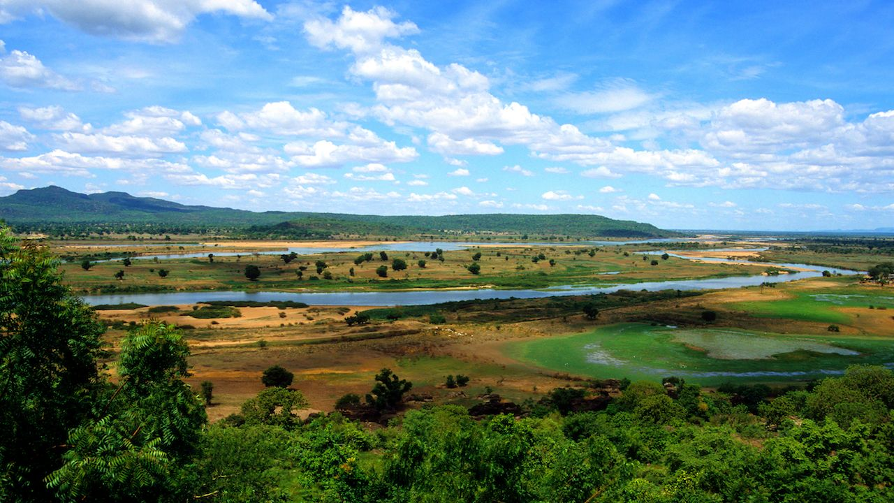 River Benue as it passes through Adamawa State in NE Nigeria
