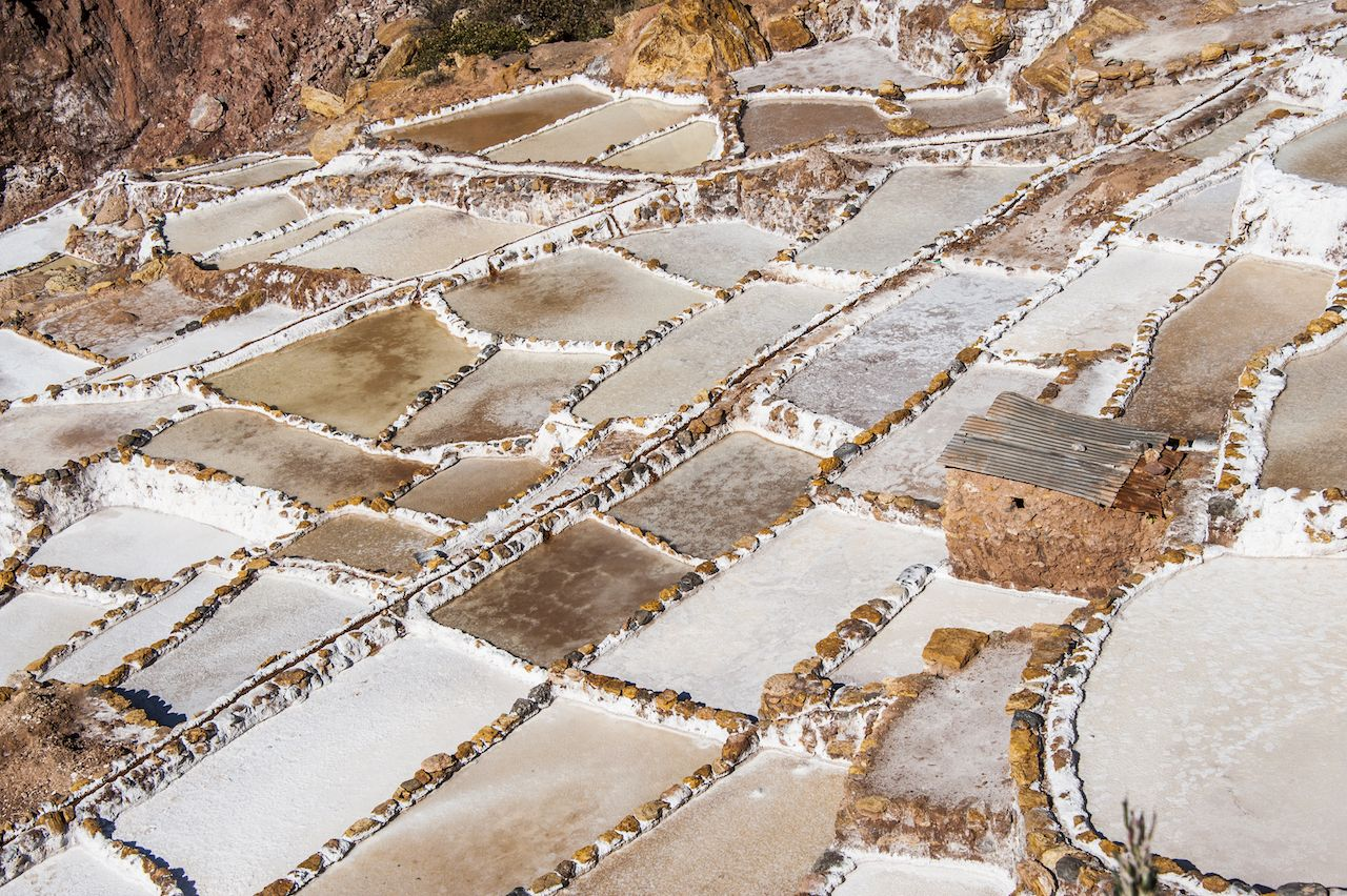 Salinas de Maras, the traditional Inca salt field in Maras near Cuzco in Sacred Valley, Peru