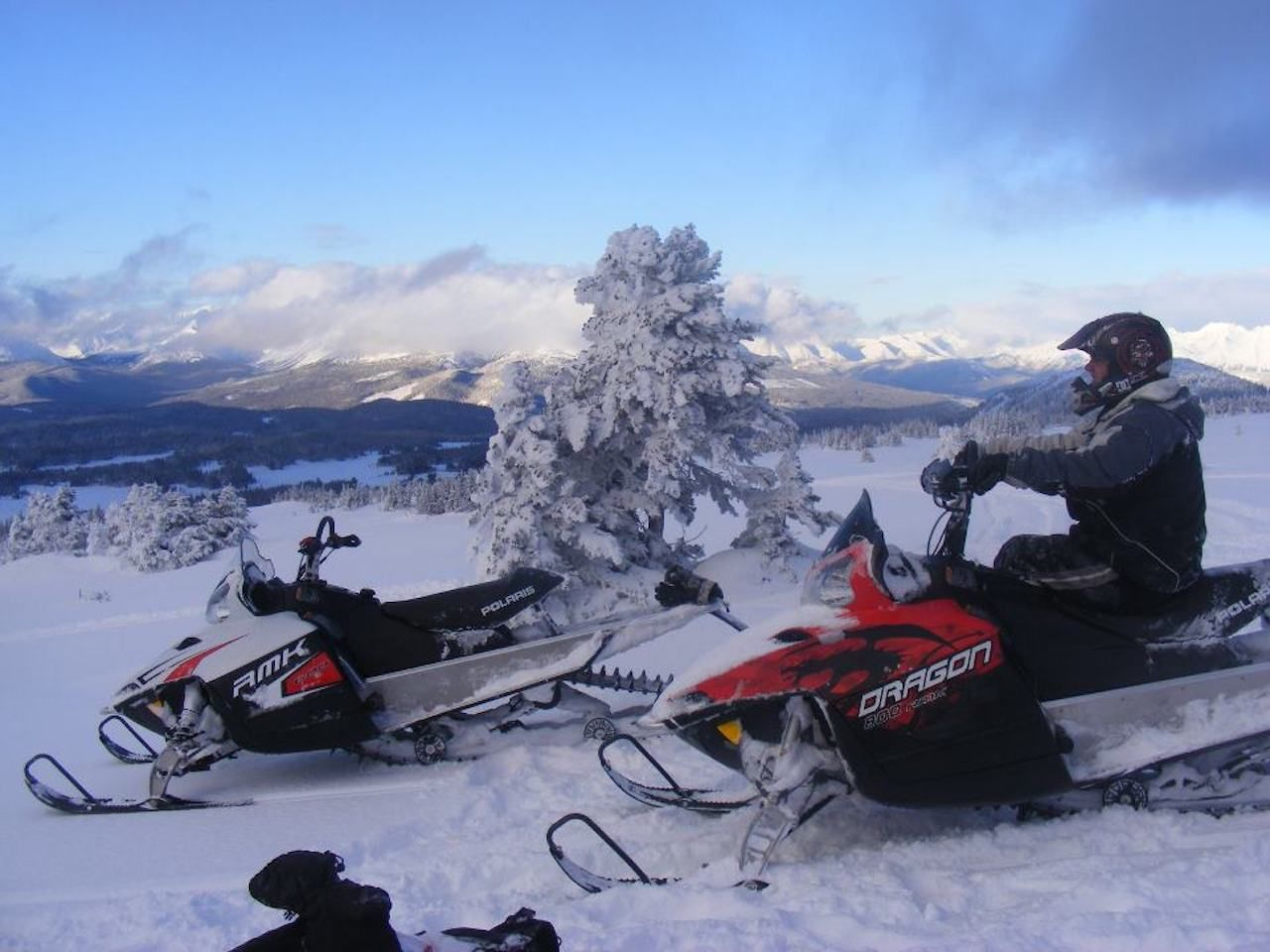 Snowmobiler in British Columbia