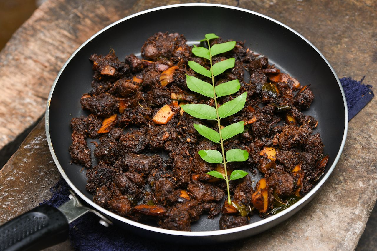 South Indian spicy beef dish fry from Kerala, India