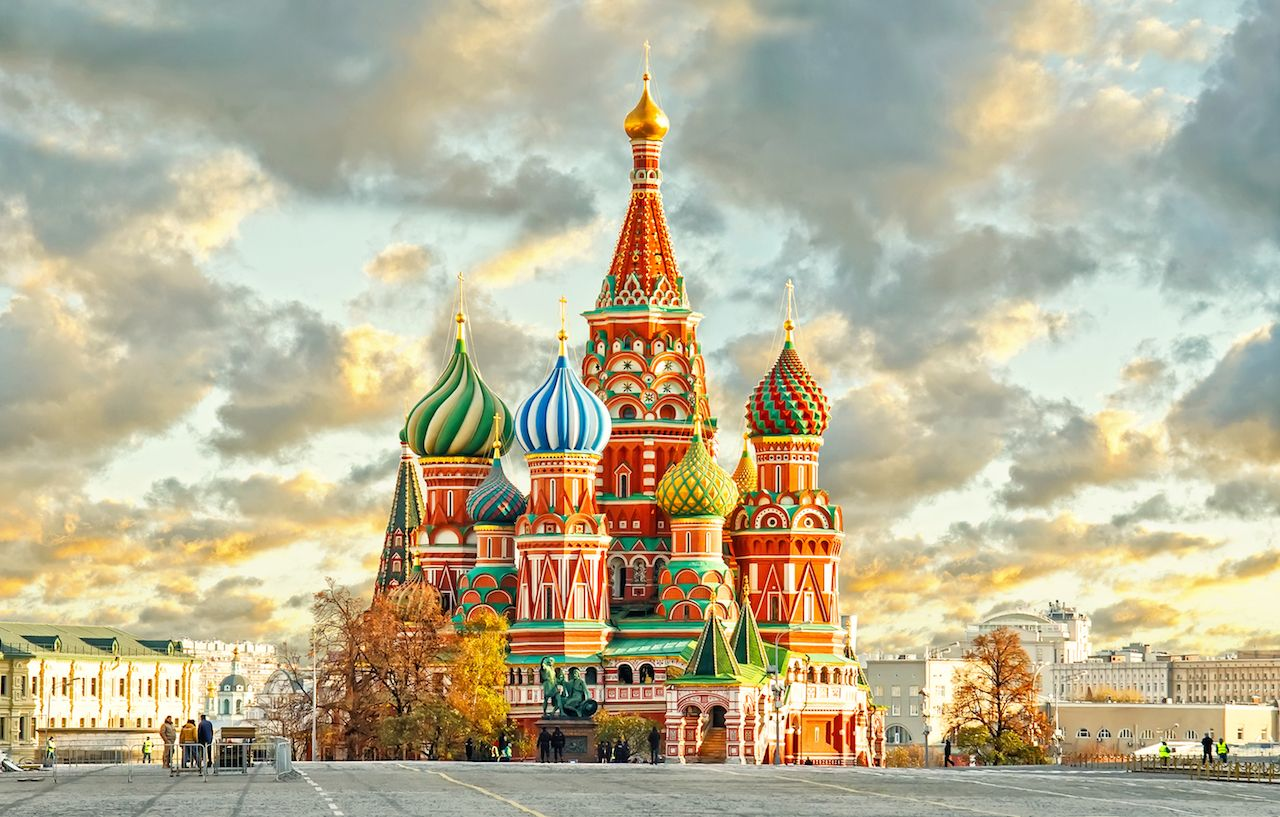 St Basils Cathedral in Red Square in Moscow