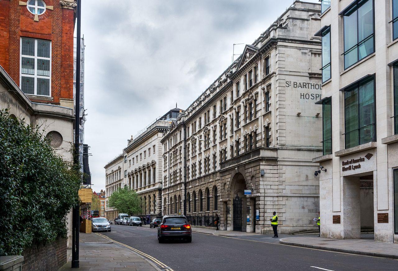 St. Bartholomew's Hospital in London