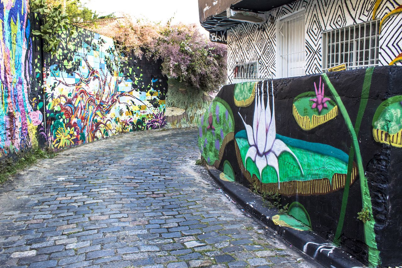 Street art in the Vila Madalena neighborhood of Sao Paulo
