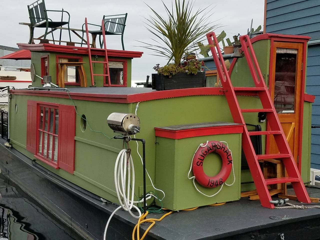 Sugar shack houseboat