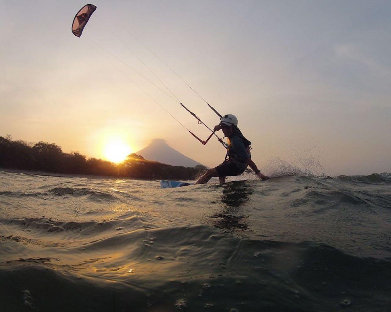 Kitesurfer in Nicaragua