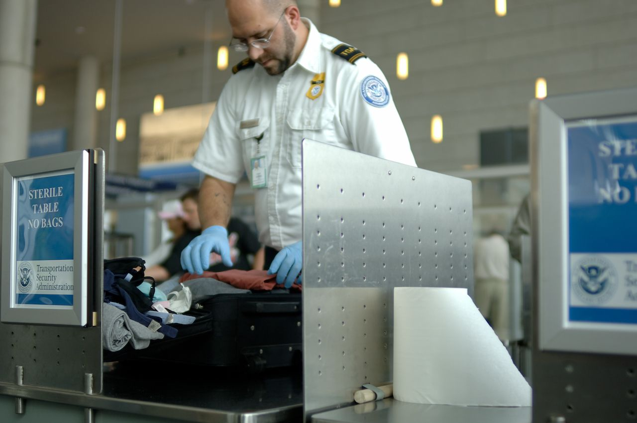TSA agents blasting rap music