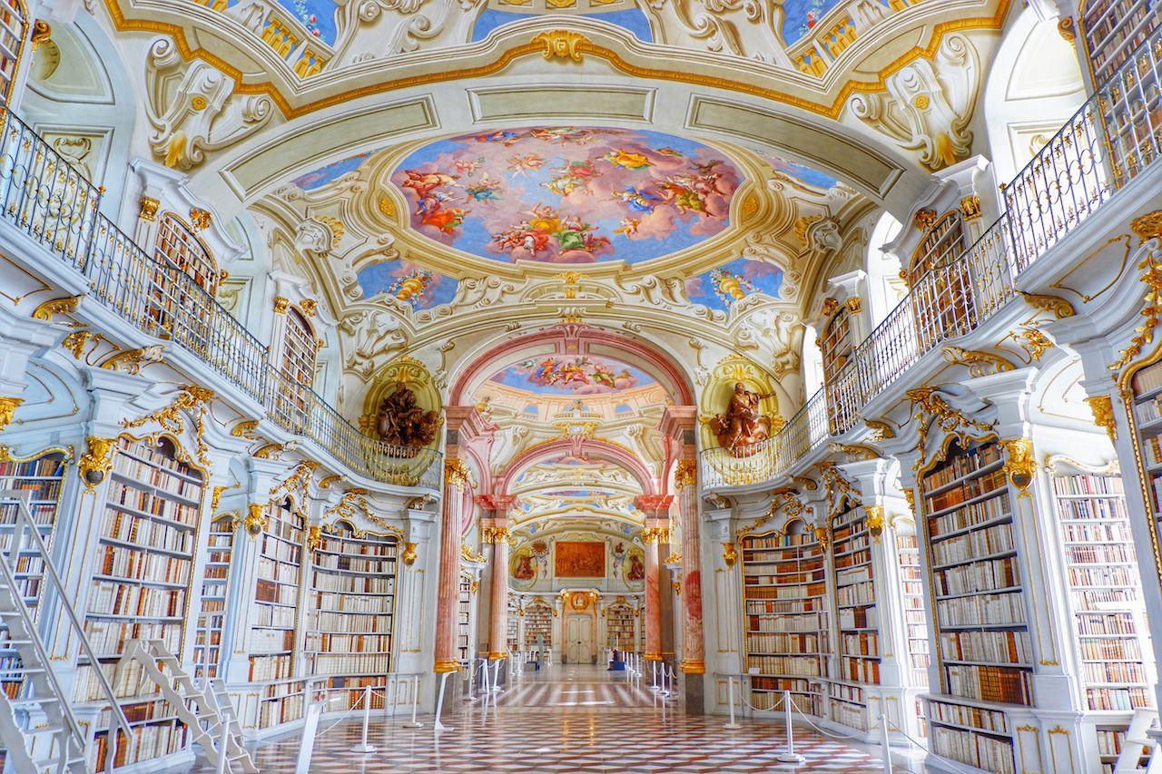 The Library of the Benedictine Monastery in Austria