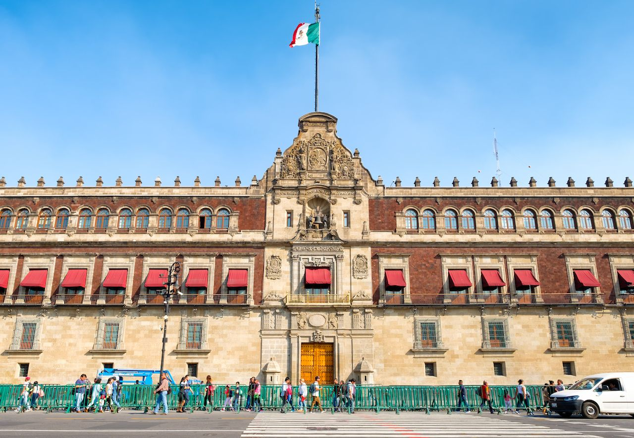 Mexican presidential palace opens