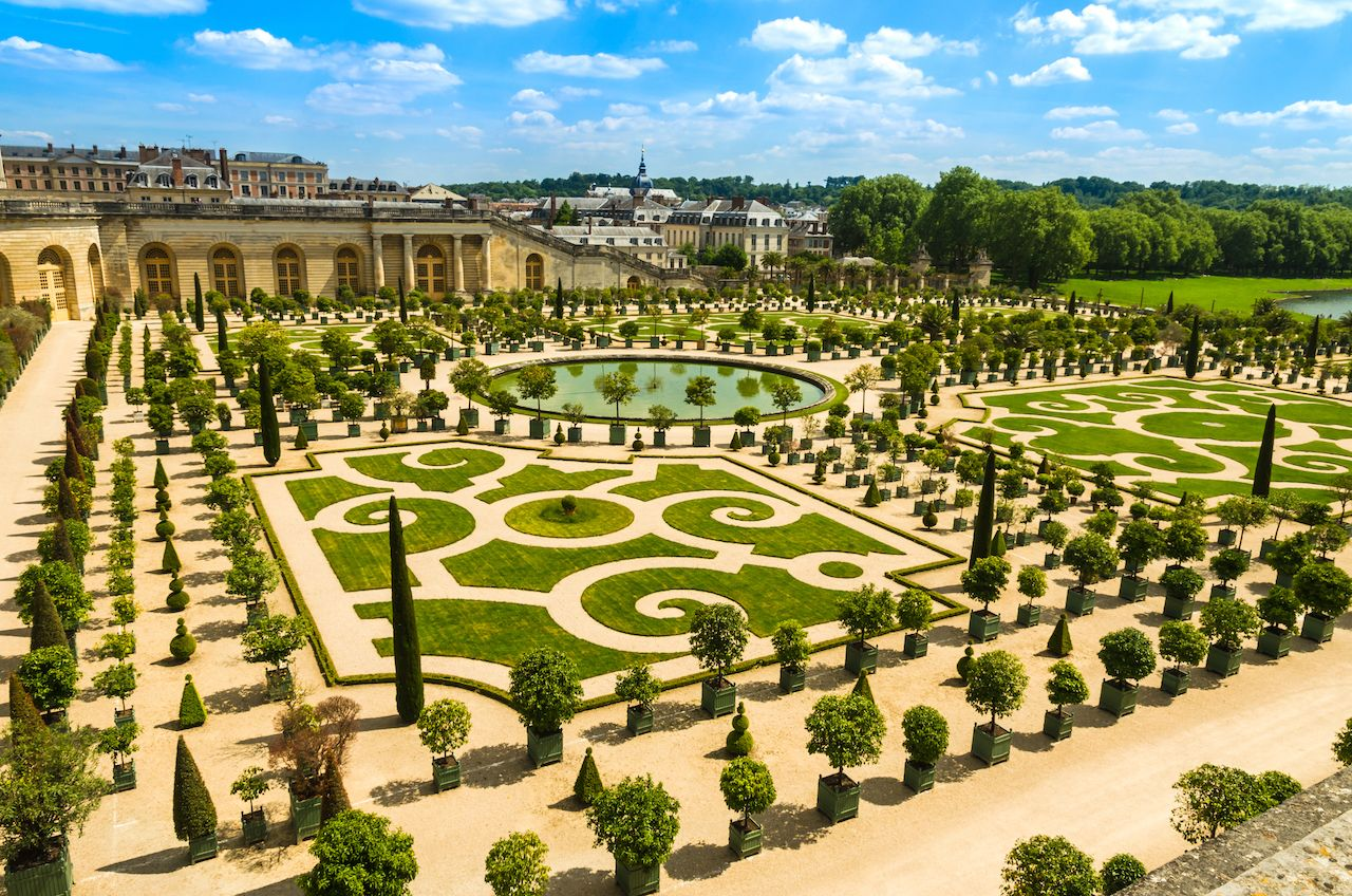 The Orangery parterre at Versailles