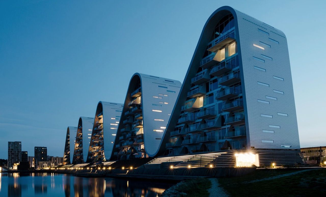 The Wave building in Denmark