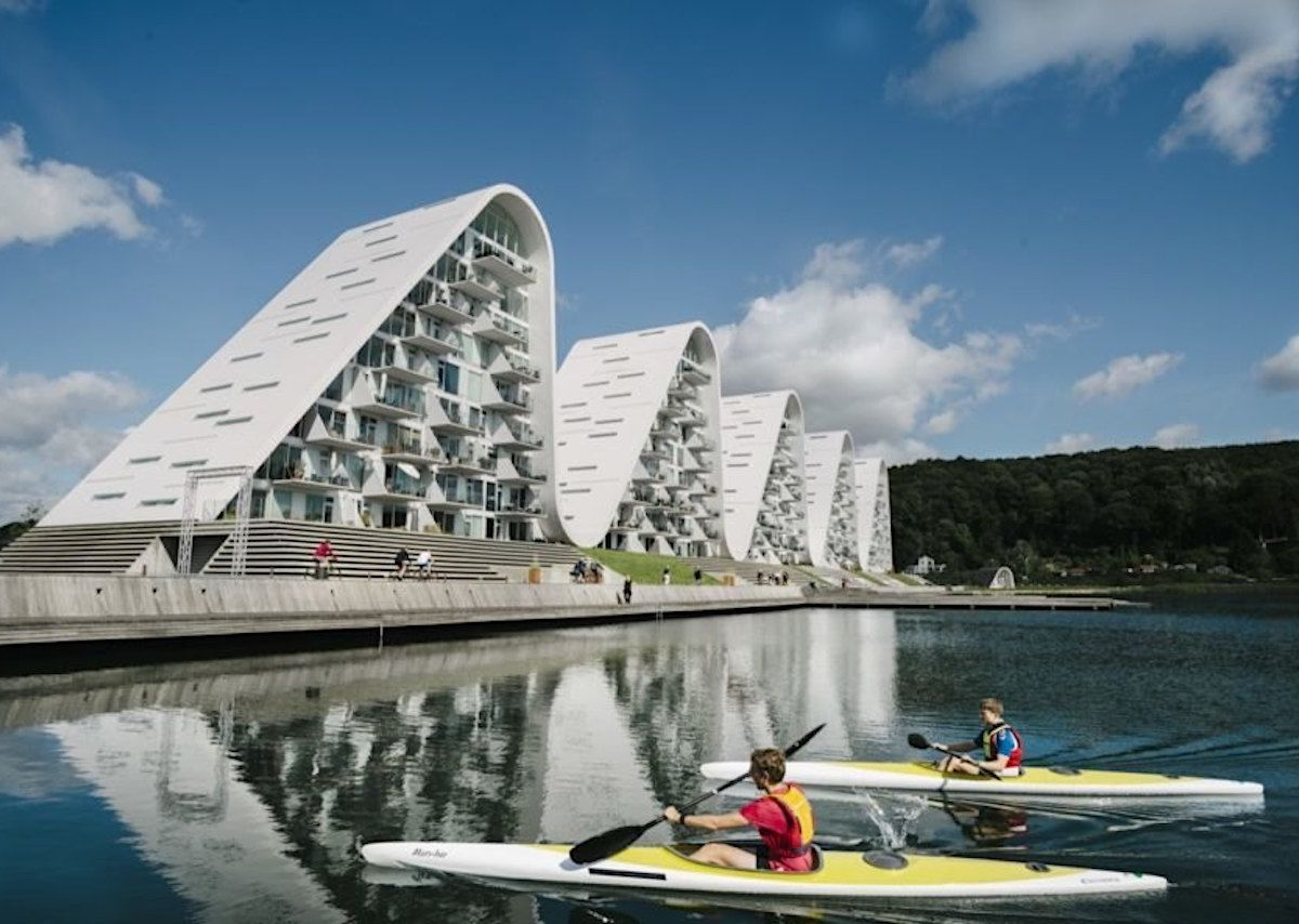 This Wave-shaped Apartment Building In Denmark Is Out Of