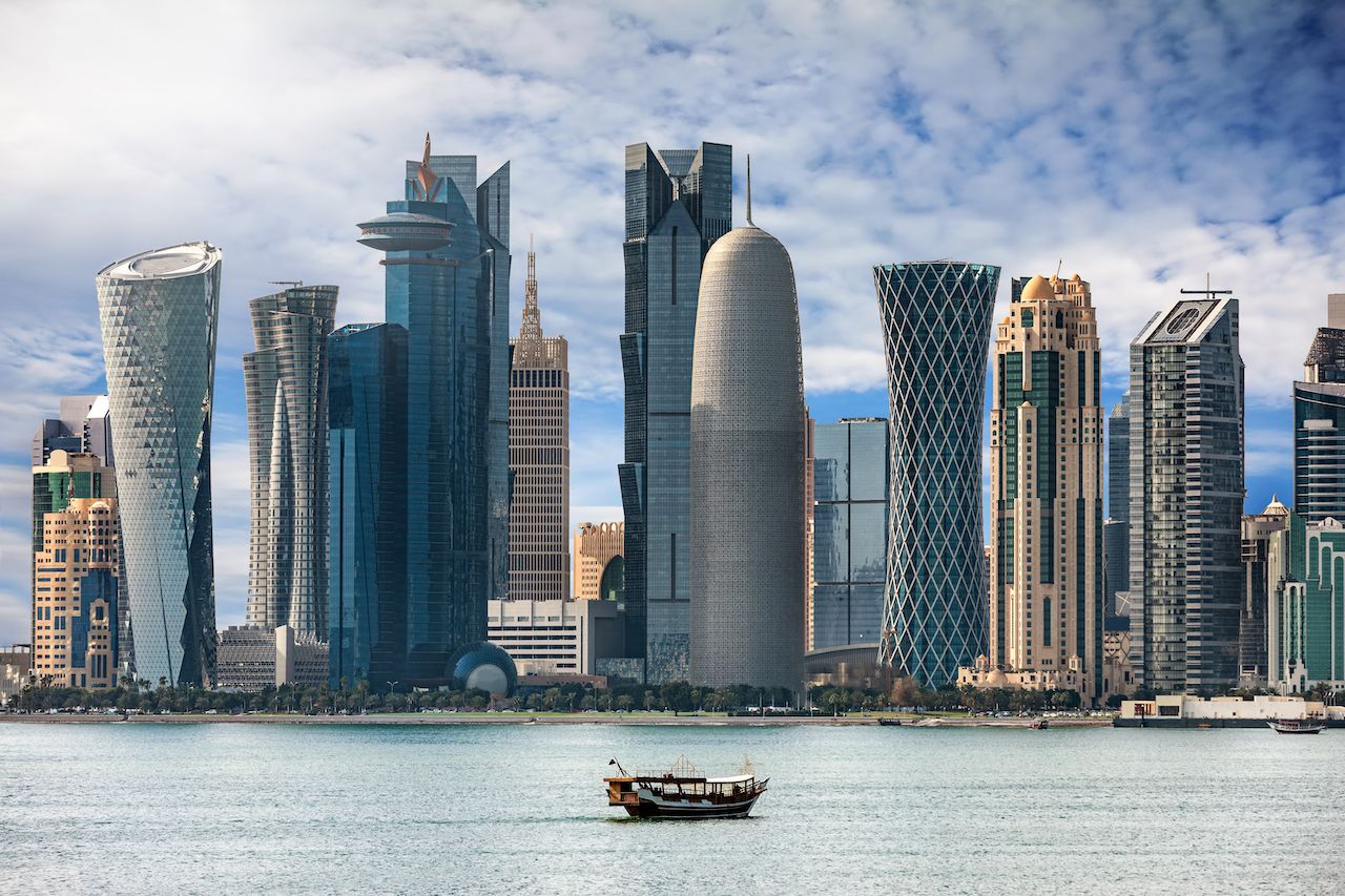 The bay of Doha, Qatar