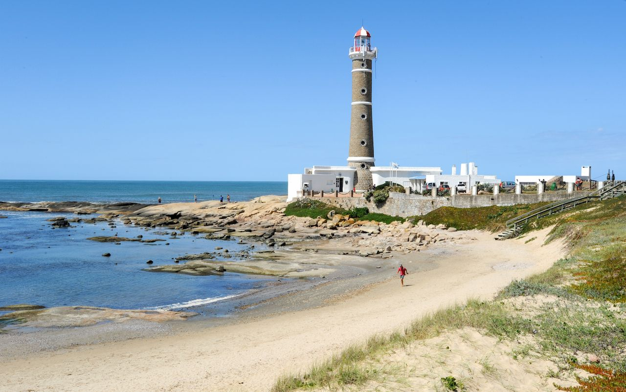 The famous lighthouse in Jose Ignacio, Uruguay