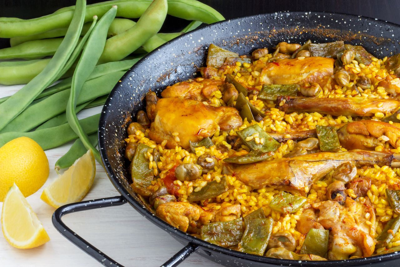 Traditional Spanish Paella Valenciana