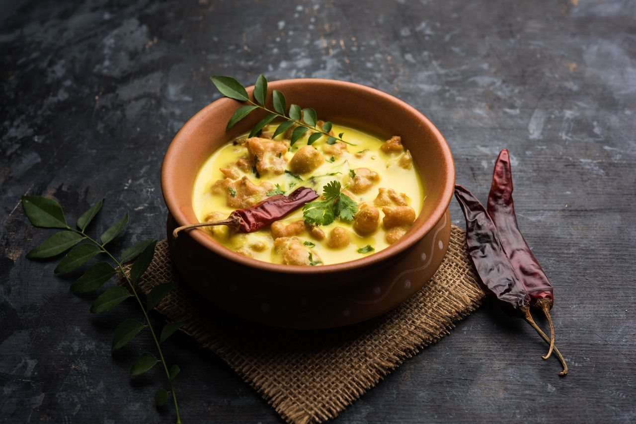 Traditional yellow curry from India