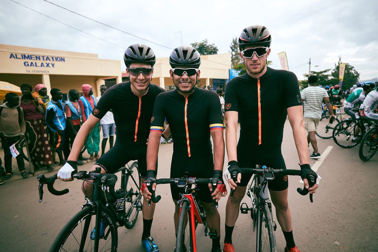 US cycling team in Rwanda