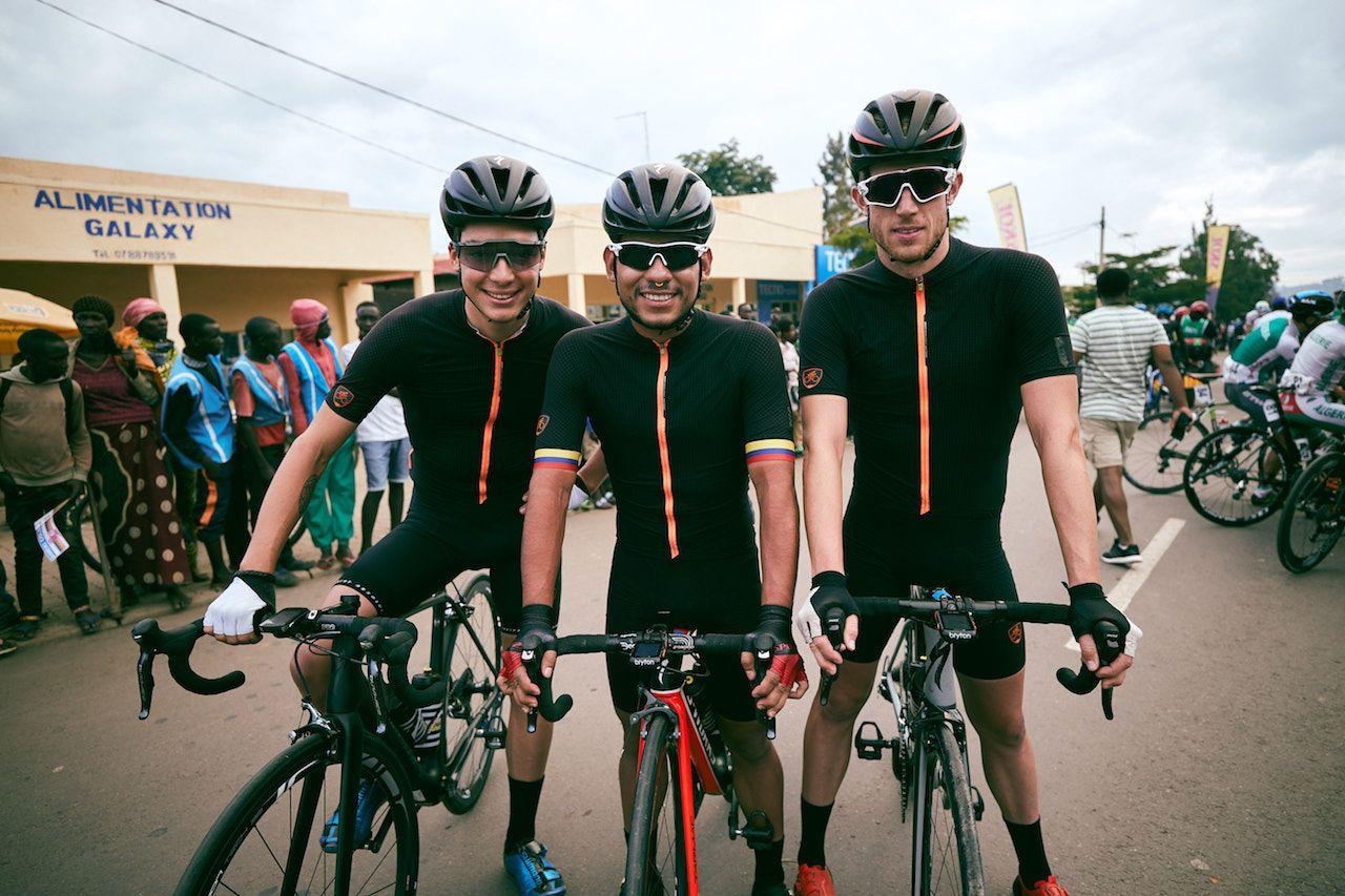US cycling team in Rwanda