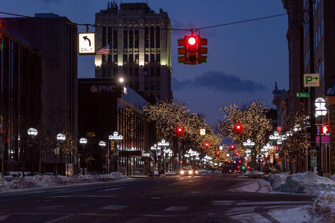 View of Main Street in Ann Arbor, Michigan