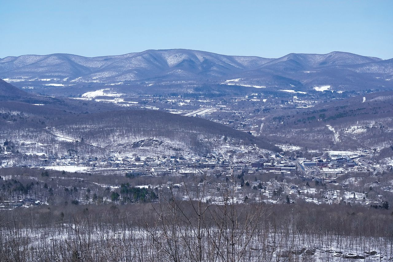 View of the mountains in Massachusetts