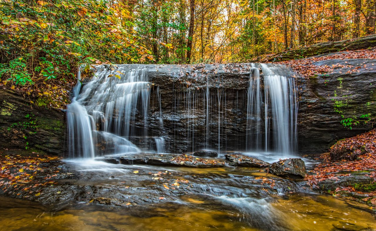 Wildcat Falls near Rock State Park in Greenville, South Carolina