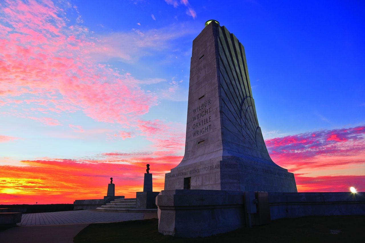 Wright brothers memorial Outer Banks North Carolina