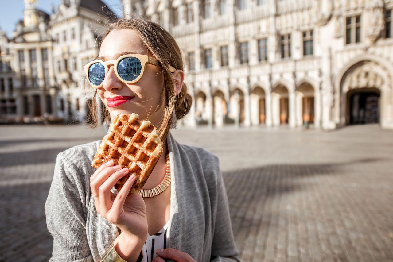 Best waffle shops in Brussels