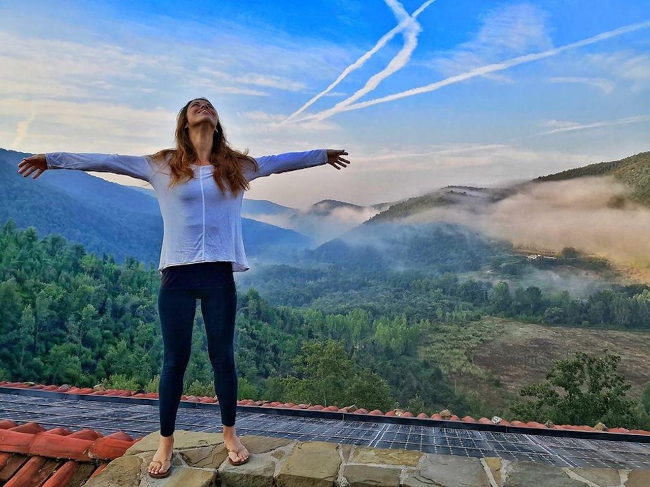 solo female traveler at the Eremito monastery