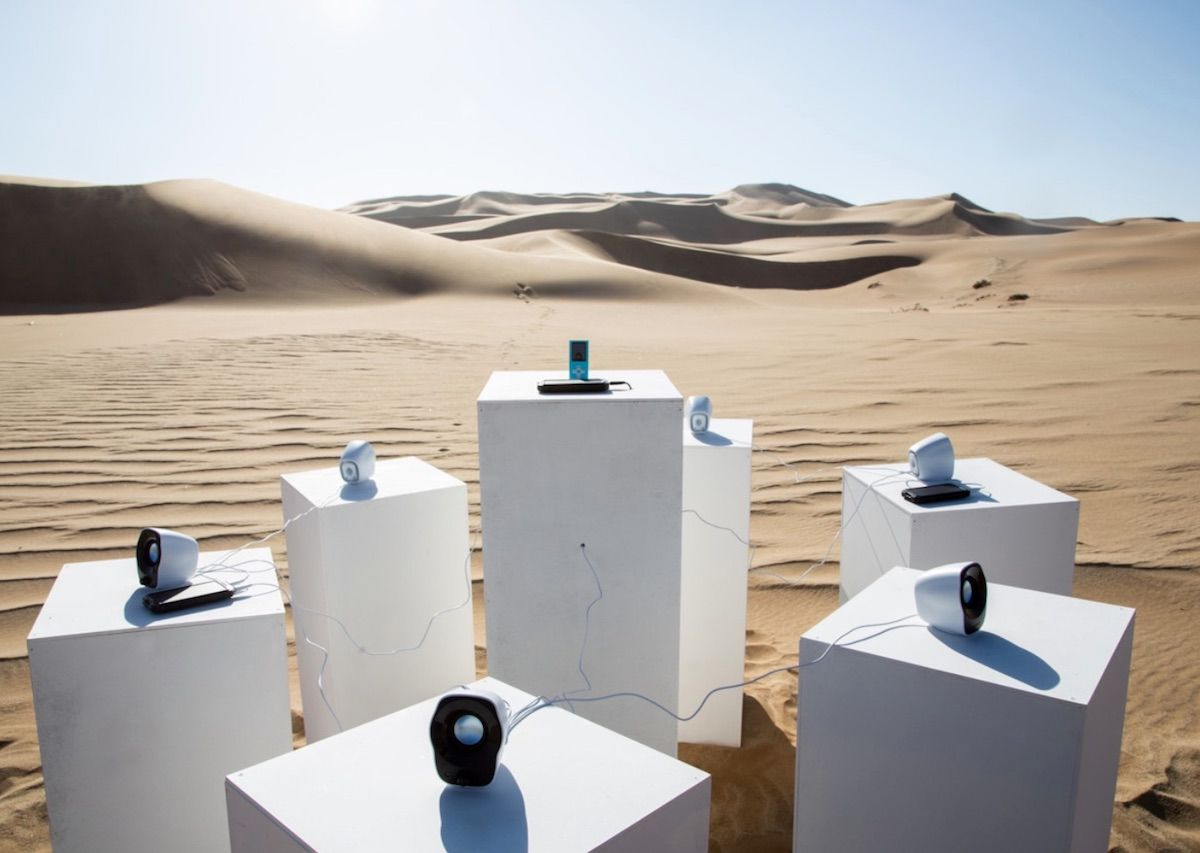 Installation in Namib Desert to play Toto's 'Africa' for all eternity