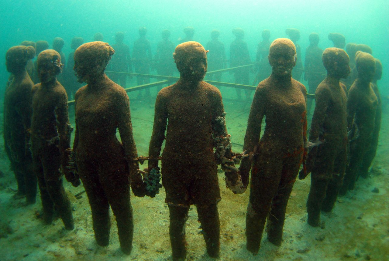 underwater park sculpture