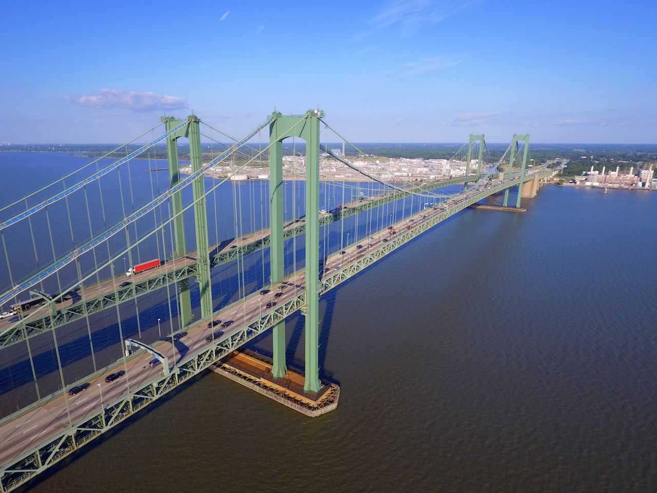 Aerial image Delaware Memorial Bridge