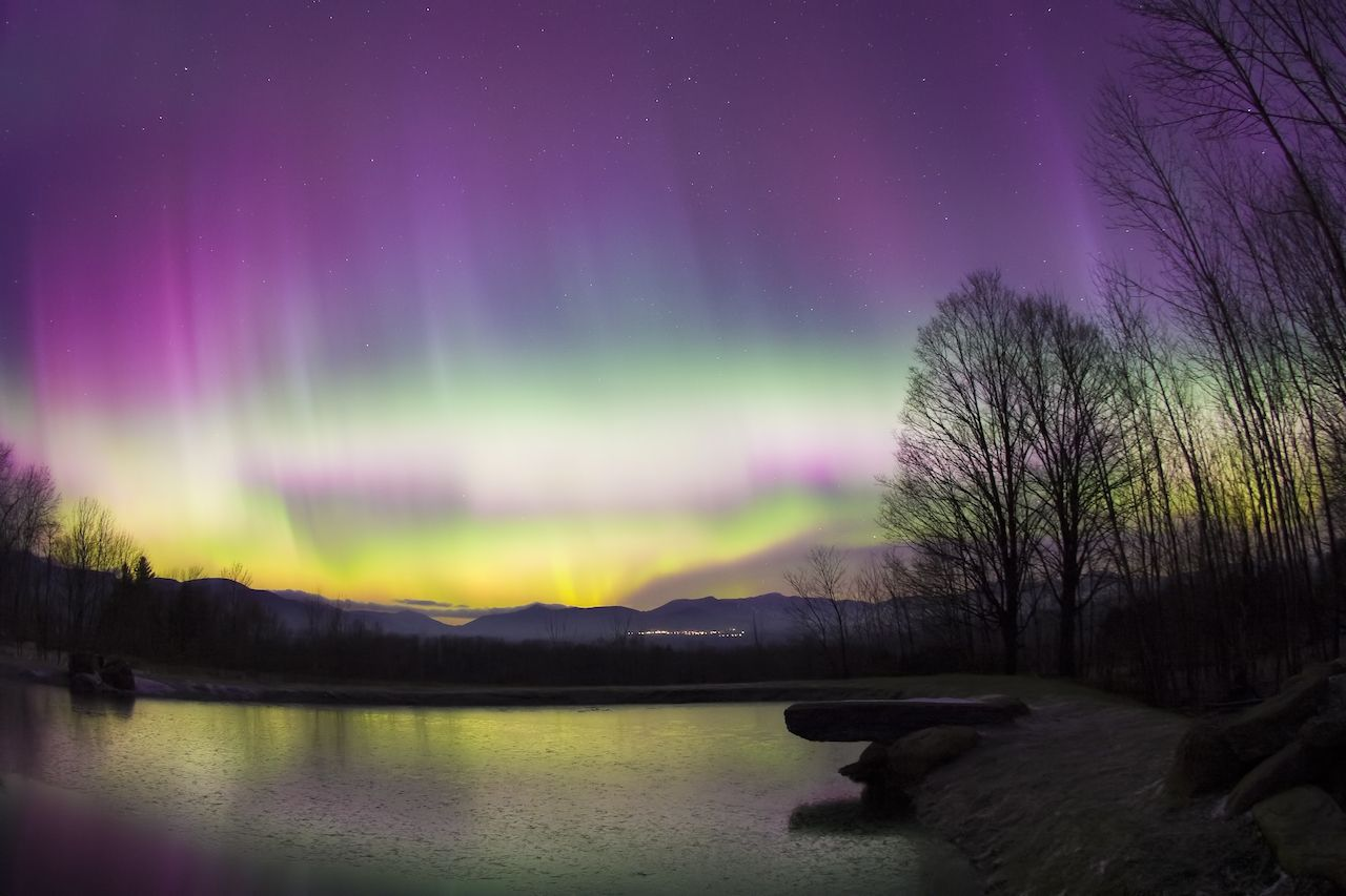 Northern lights visible over the US